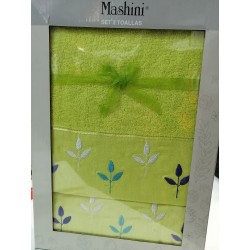 Toallas 2 piezas mashini verde