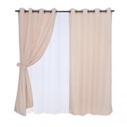set cortinas 8 piezas...